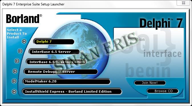 Borland Delphi 7 Enterprise Edition Kurulumu [Resimli Anlatim]