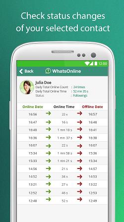 whatsonline, whatsapp çevrimiçi bildirim