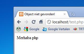 PHP açilis sayfasi